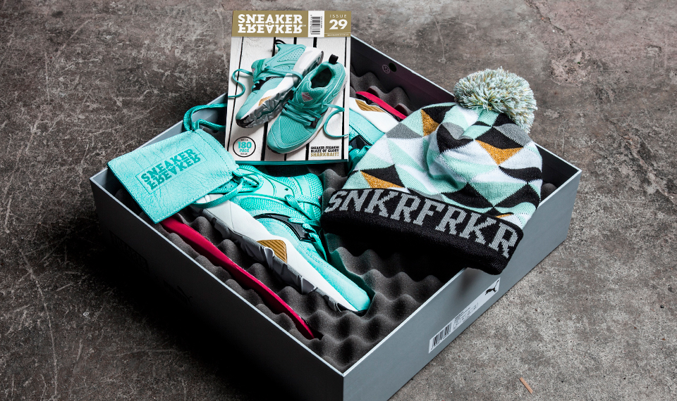 Sneaker Freaker x PUMA Blaze of Glory Sharkbait gift box
