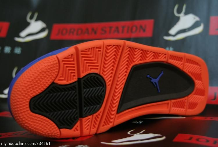 best website 97b01 94ab4 Air Jordan 4 IV Cavs Knicks Shoes Black Orange Blaze Old Royal 308497-027 (