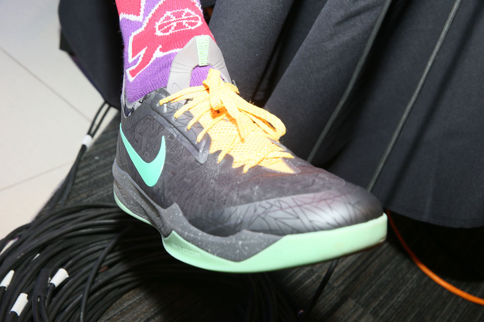 James Harden wearing Nike Zoom Crusader Gumbo All-Star