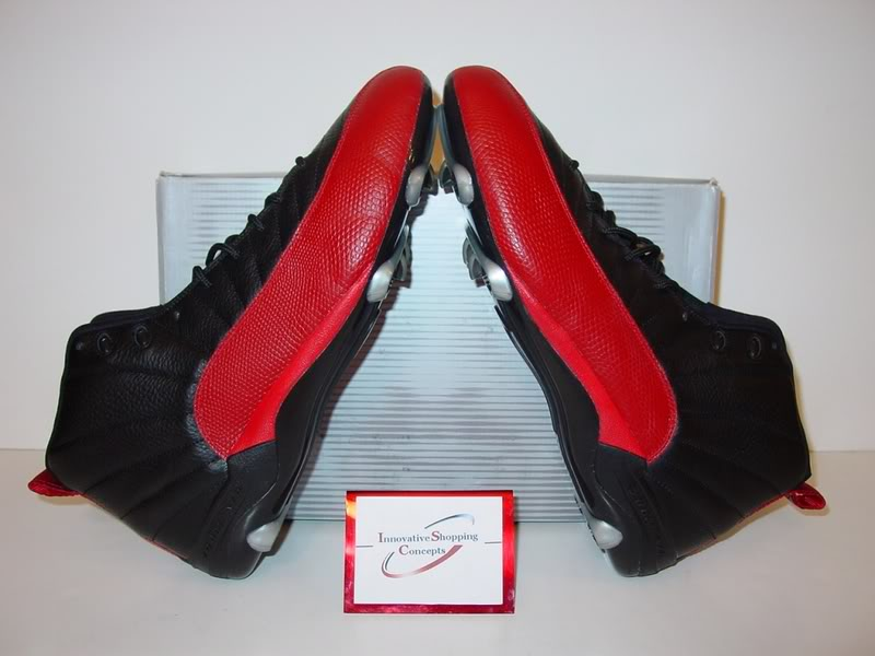 Warren Sapp's Air Jordan 12 XII Bred PE  Cleats