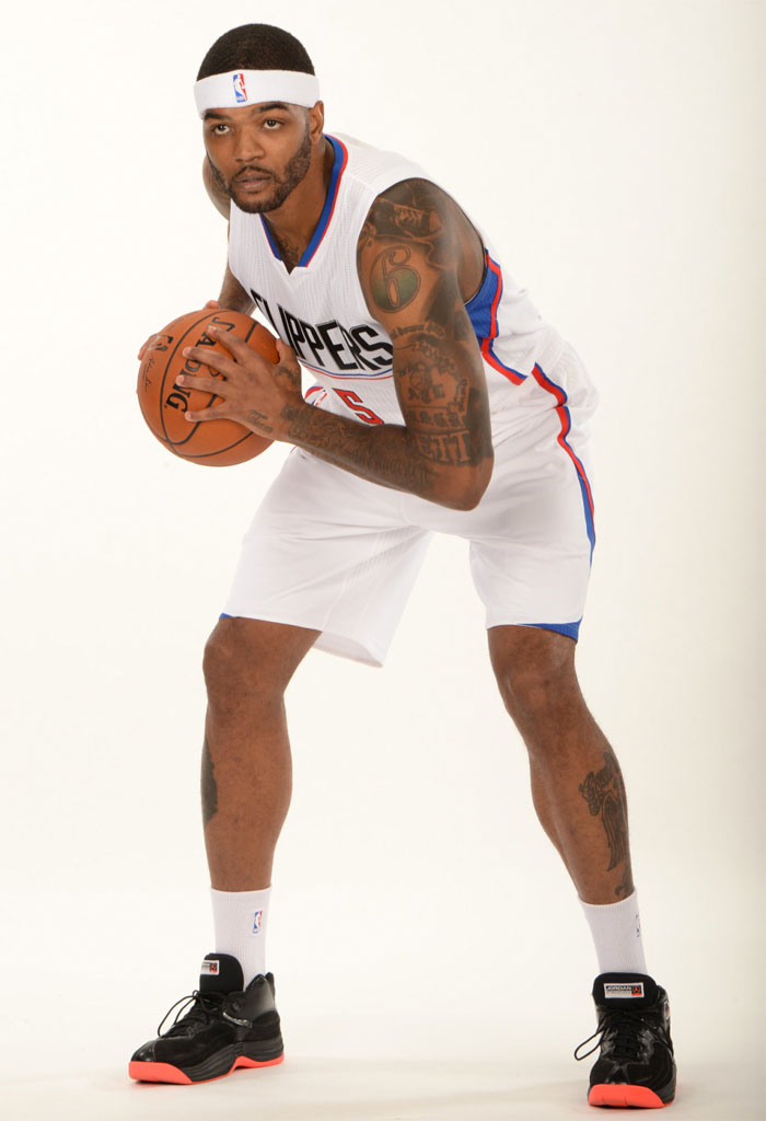 Josh Smith wearing the 'Infrared' Jordan Jumpman Team 1