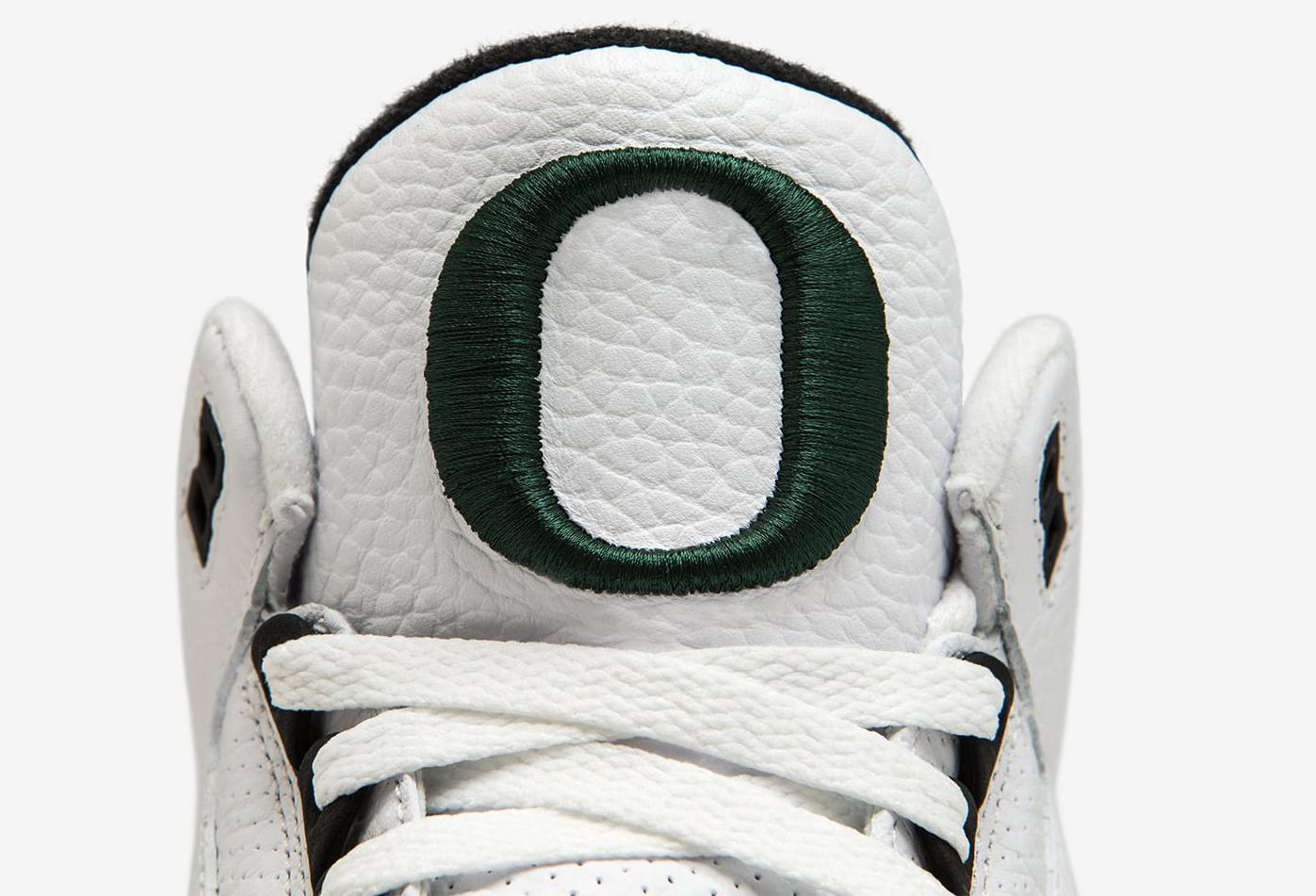 Oregon Ducks Air Jordan 3 Tongue