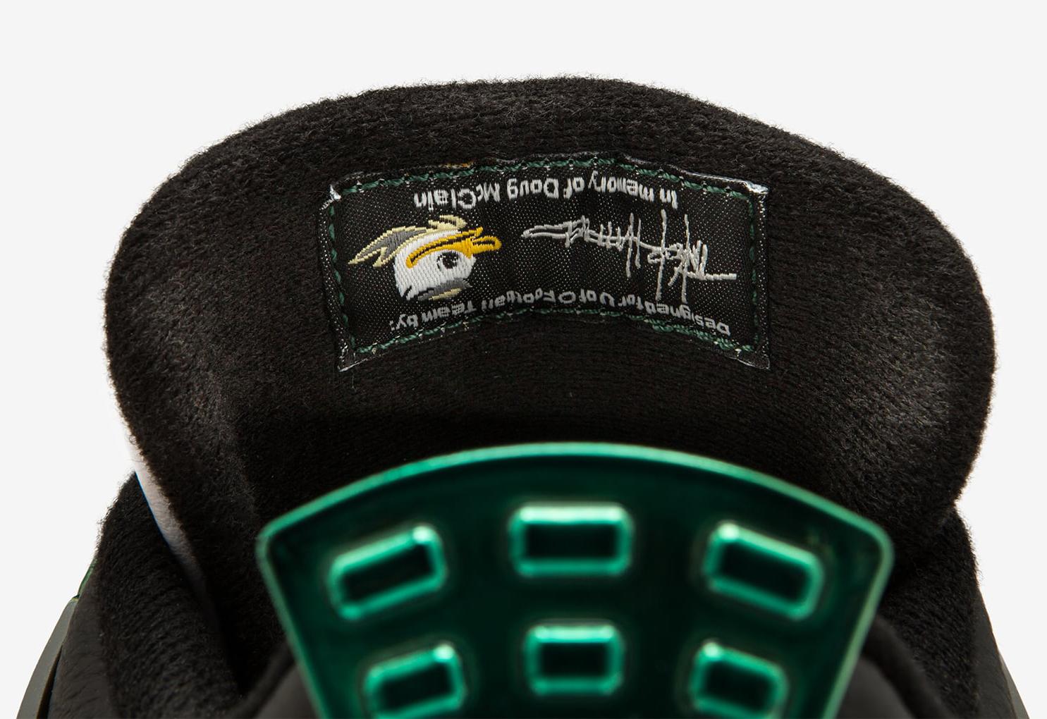 Oregon Ducks Air Jordan 4 Chrome Tongue