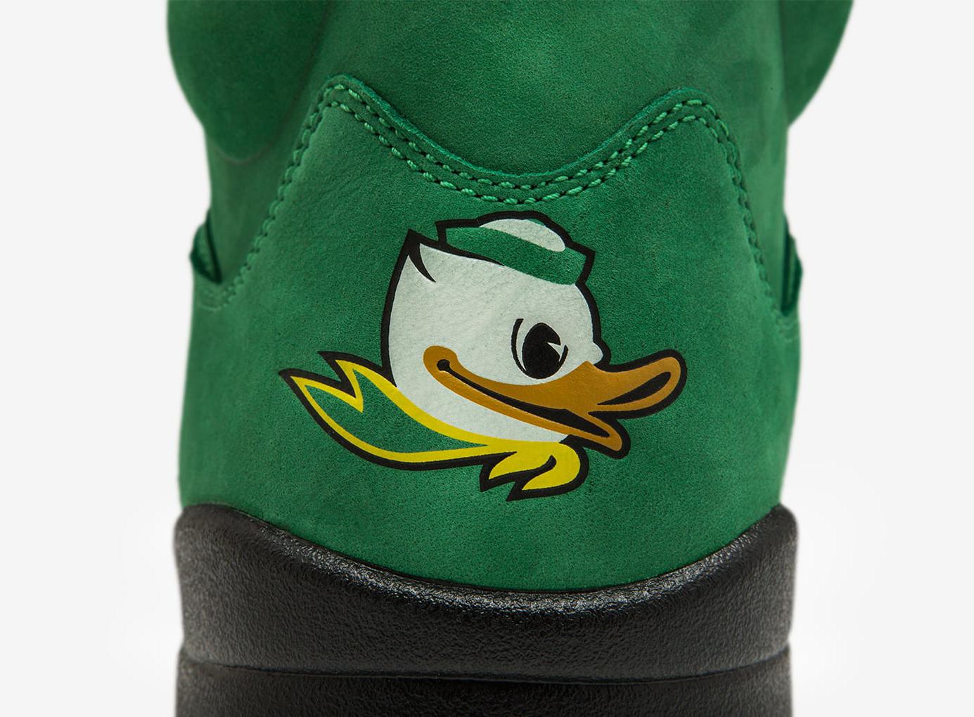 Oregon Ducks Air Jordan 5 Heel