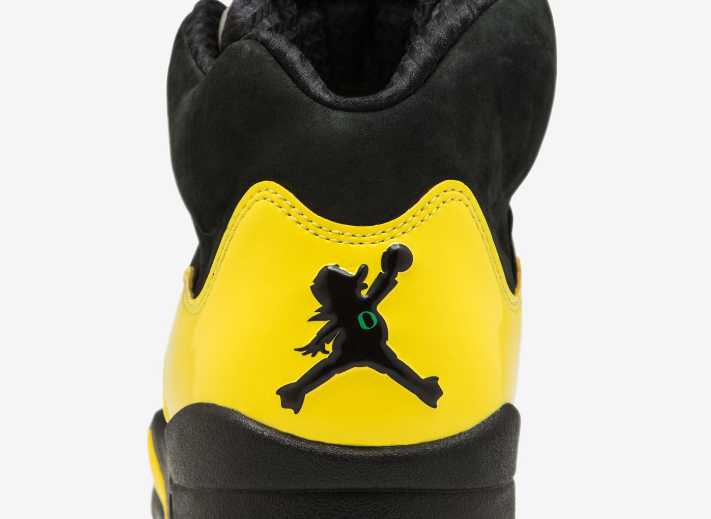 wholesale dealer 60564 67520 Oregon Ducks Air Jordan 5 Jumpduck Heel
