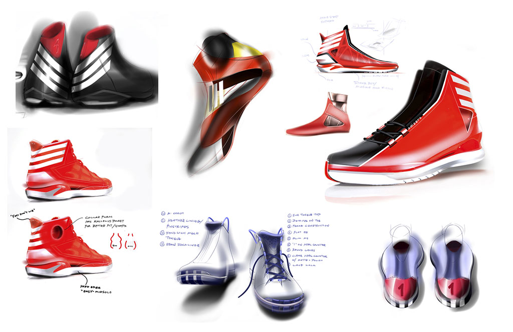 Sketch Work // adidas D Rose 3 (1)