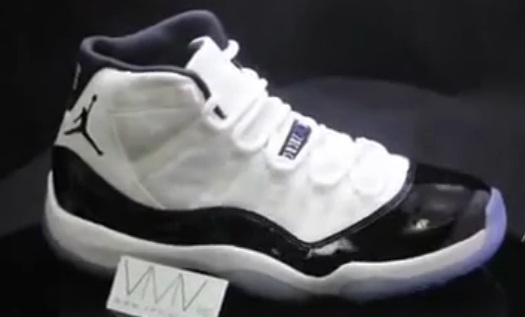 new concept 426d6 33a31 After images first surfaced earlier this week, we now have a video giving  us an all-around look at the 2011 Air Jordan Retro 11  Concord.