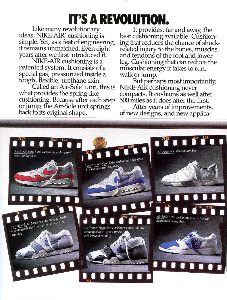09339a22e3f9da Vintage Ad Special Feature  Nike Air Max Ad Insert