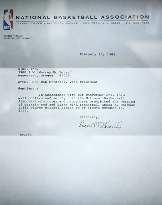 True Story Banned Air Jordan
