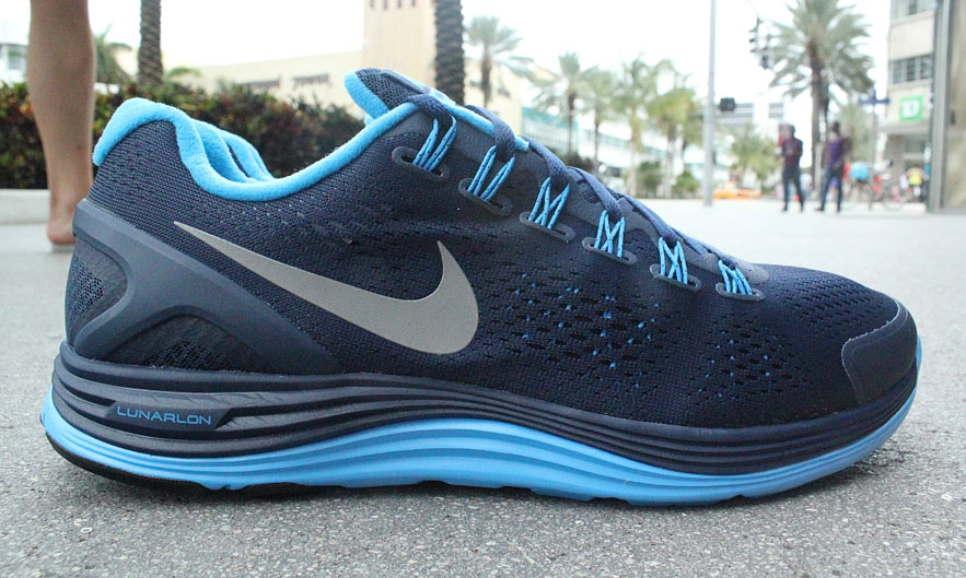 Nike Lunarglide+ 4 Midnight Navy Reflective Silver Blue Glow 524977-404 (1)