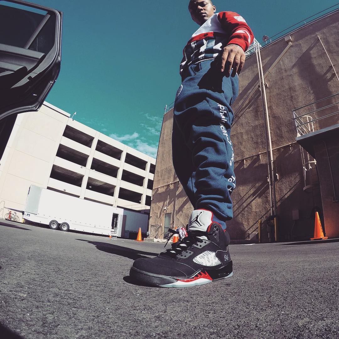 size 40 2c58a fd0c7 Bow Wow Wearing the Black Supreme x Air Jordan 5