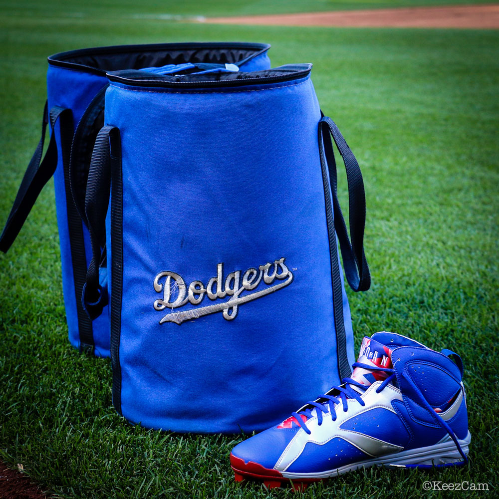 Air Jordan 7 Carl Crawford Dodgers PE Cleats (7)