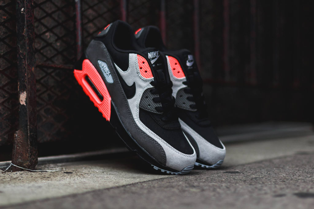 Nike Air Max 90 Leather Total Crimson 666578-003 (5)