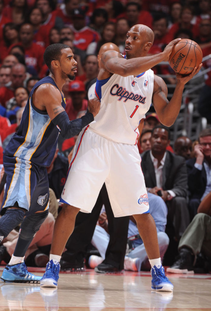 Chauncey Billups wearing adidas Crazy Fast Blue White