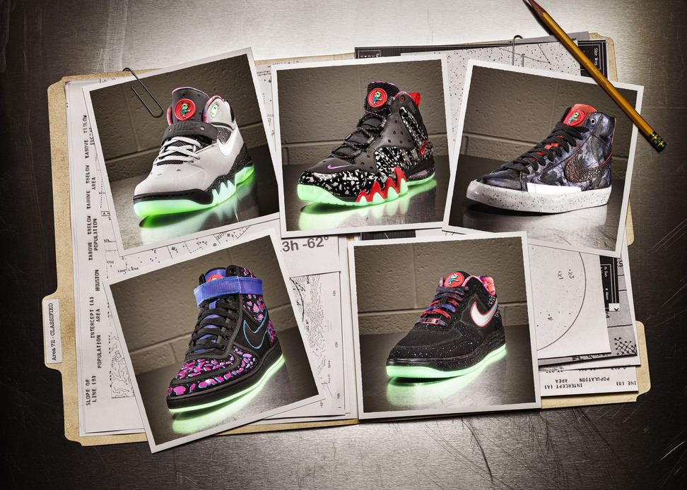 competitive price 51175 698a5 Building on last year s space exploration theme, Nike Sportswear goes with  an Area 72-inspired story for this year s All-Star footwear collection.