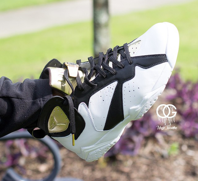 purchase cheap e0228 ef5ff See the  Champagne and Cigar  Jordan 7s On-Feet   Sole Collector