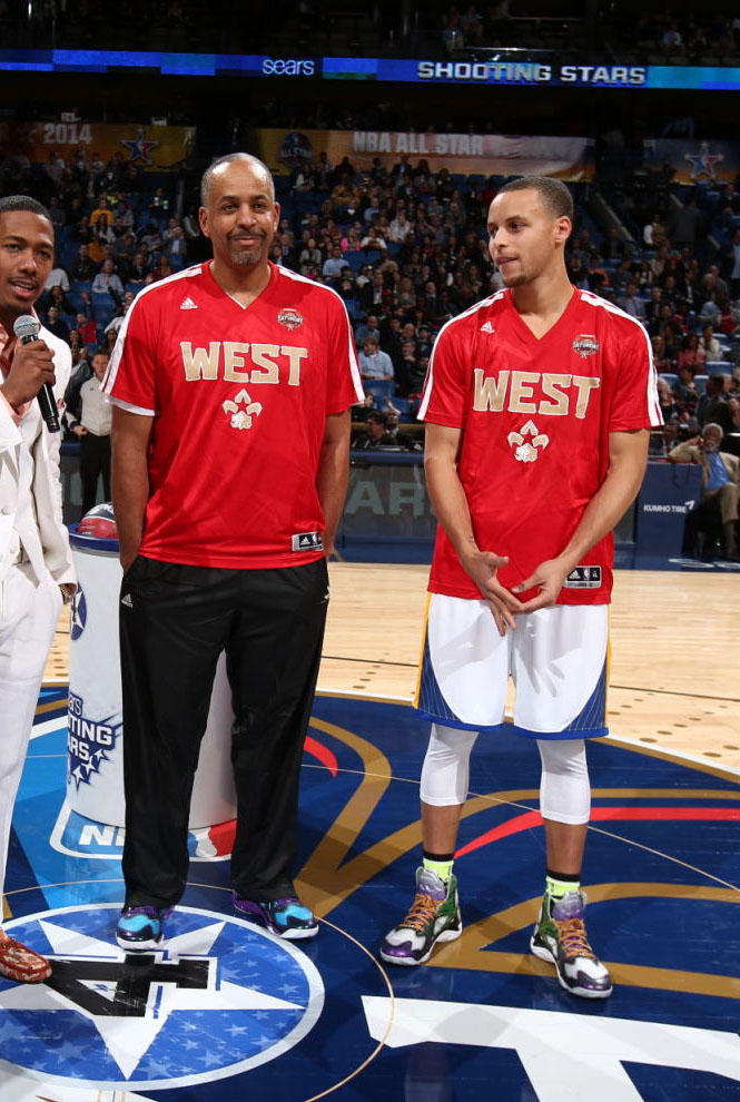 Dell Curry wearing Under Armour Anatomix Spawn