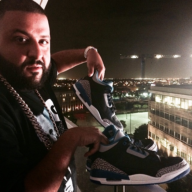 DJ Khaled Picks Up Air Jordan III 3 Sport Blue