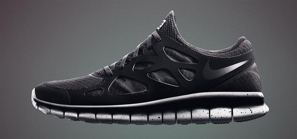 073114 Nike Free Run 2 SP BlackBlack Cement Grey $115.00