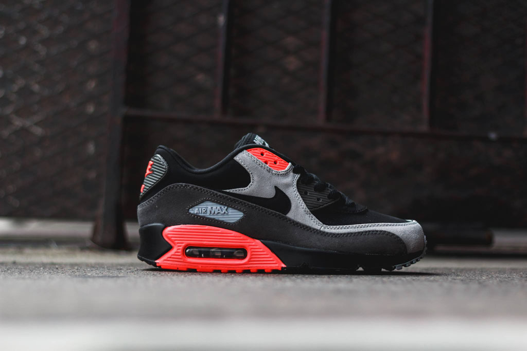 Nike Air Max 90 Leather Total Crimson 666578-003 (4)