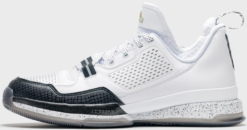 adidas D Lillard 1 White/Black-Gold