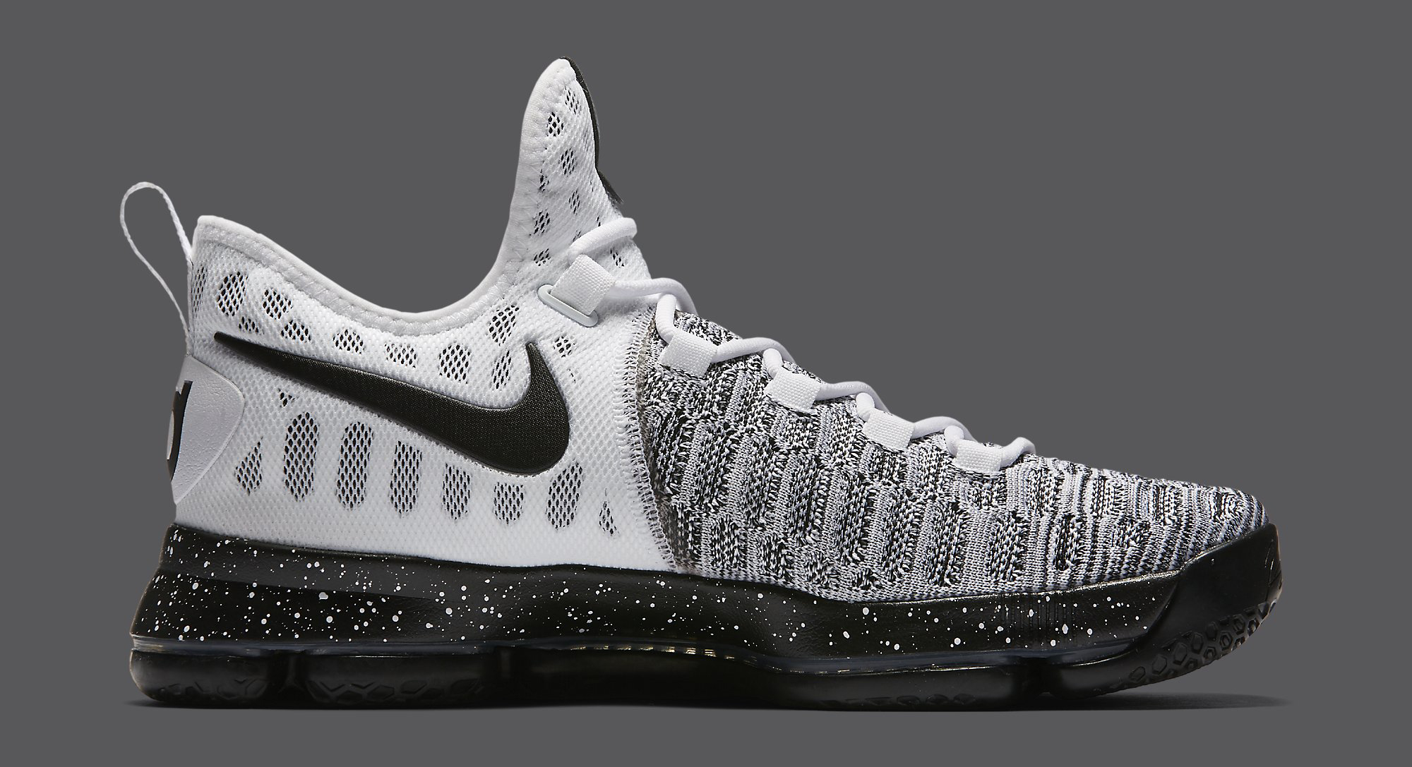 info for a63d9 5eb4f Image via Nike Nike KD 9 White Black Oreo 843392-100 Medial
