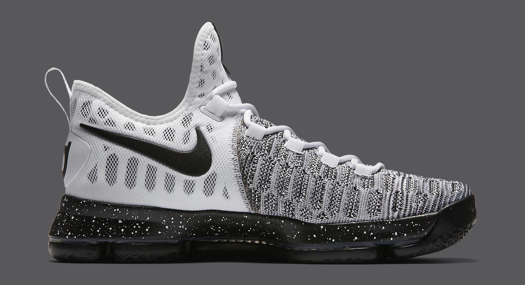 Nike KD 9 White Black Oreo 843392-100 Medial