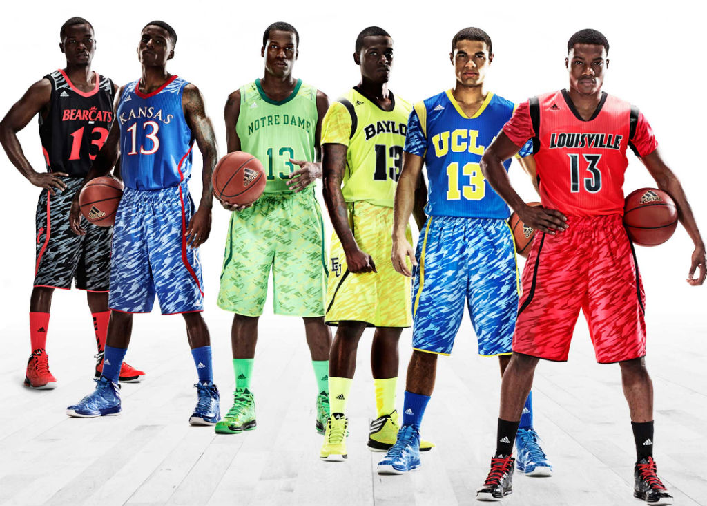 adidas Unveils adizero NCAA Basketball Uniforms For Six Teams
