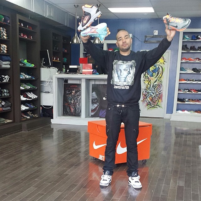 DJ Envy wearing Air Jordan 3 Infrared 23
