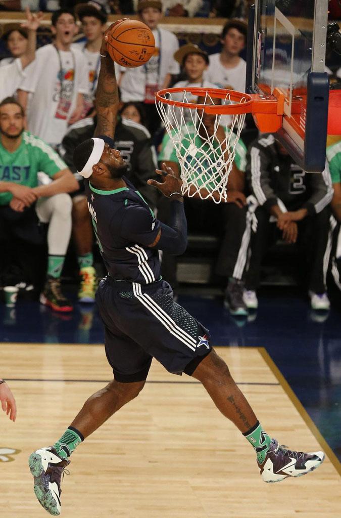 cc8c3630c64 LeBron James wearing Nike LeBron 11 All-Star