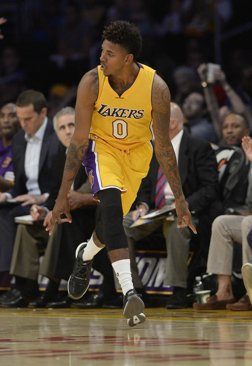 269314a9ac4a Nick Young wearing the adidas D Lillard 1