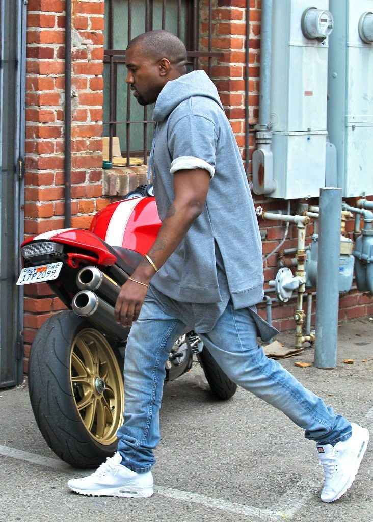 Kanye West Wearing Nike Air Max 90 Hyperfuse USA Pack (4)