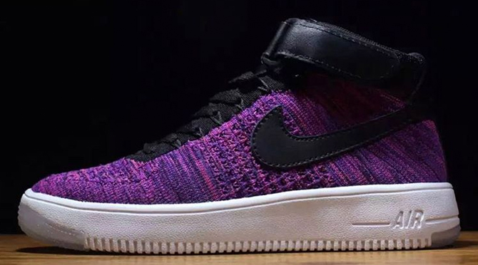cheap for discount ce656 4a0e7 Purple Nike Flyknit Air Force 1