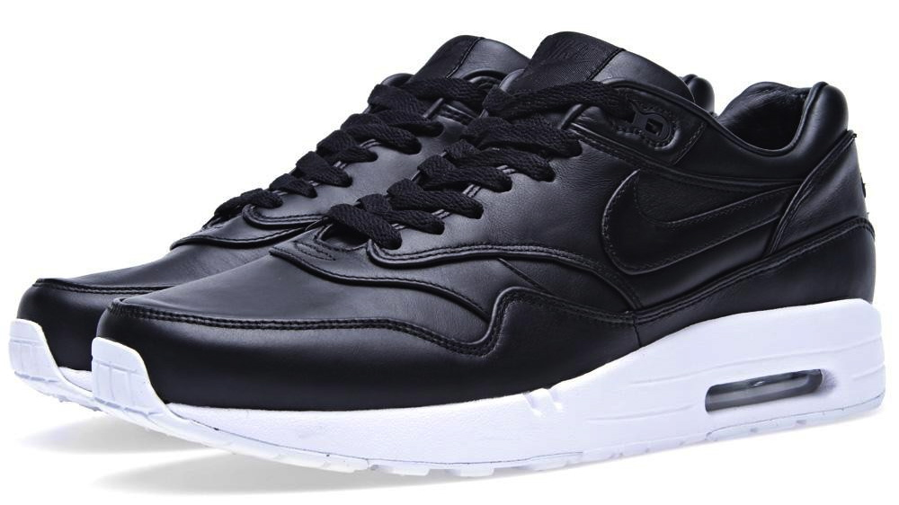 black leather air max 1