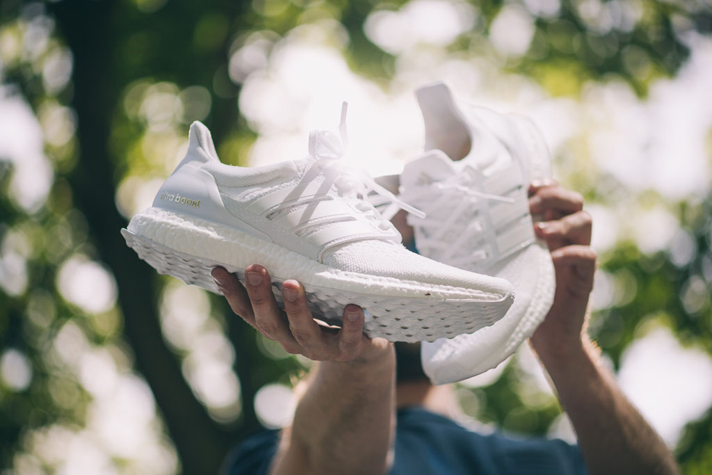 Adidas Ultra Boost On Feet All White