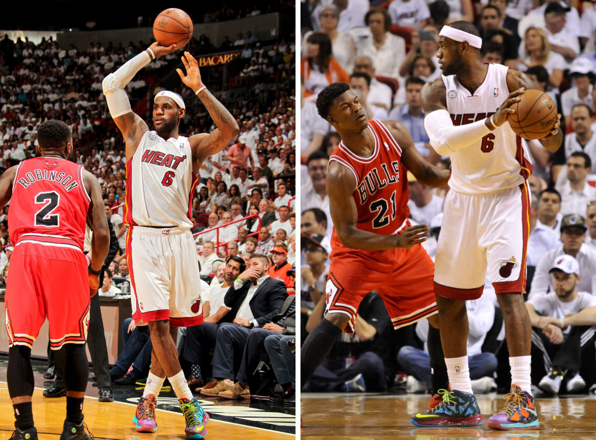 LeBron James wearing Nike LeBron X What the MVP (7)