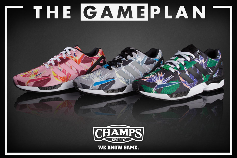 6ebbbff07 The Game Plan by Champs Sports Presents the adidas ZX Flux Floral Collection