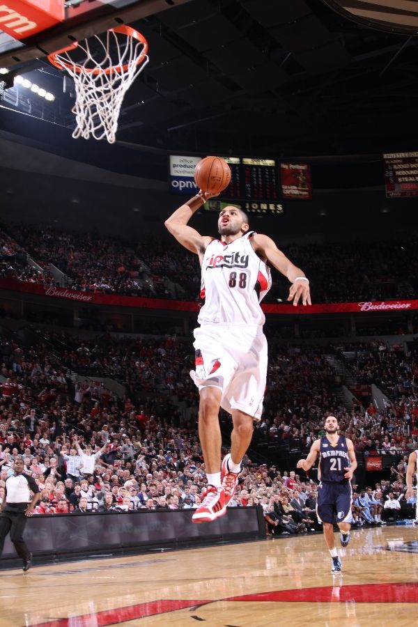 Nicolas Batum wearing the adidas adiPure