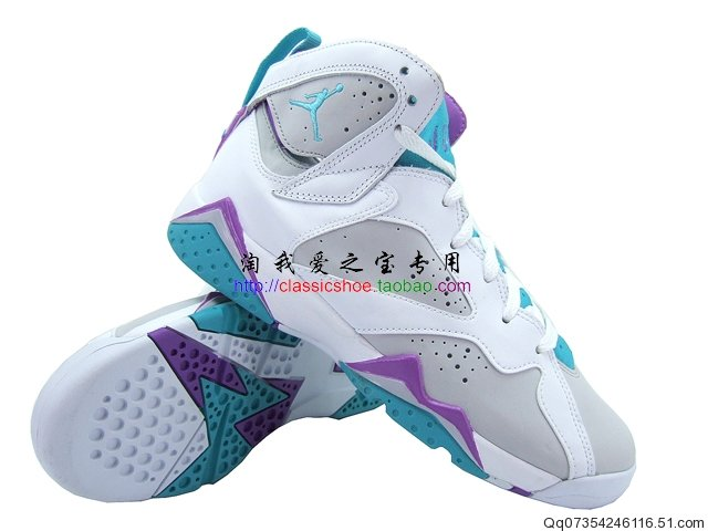 new products 48655 4bb73 Air Jordan Retro 7 Neutral Grey Mineral Blue Bright Violet White 442960-001