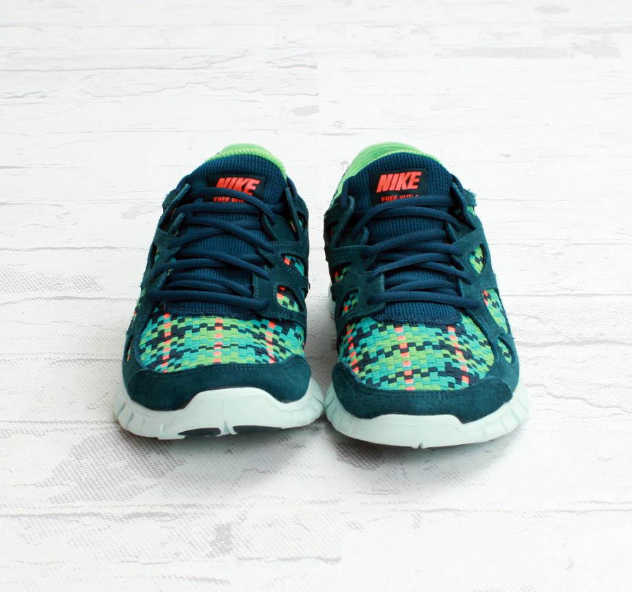 Nike free run 2 woven turquoise