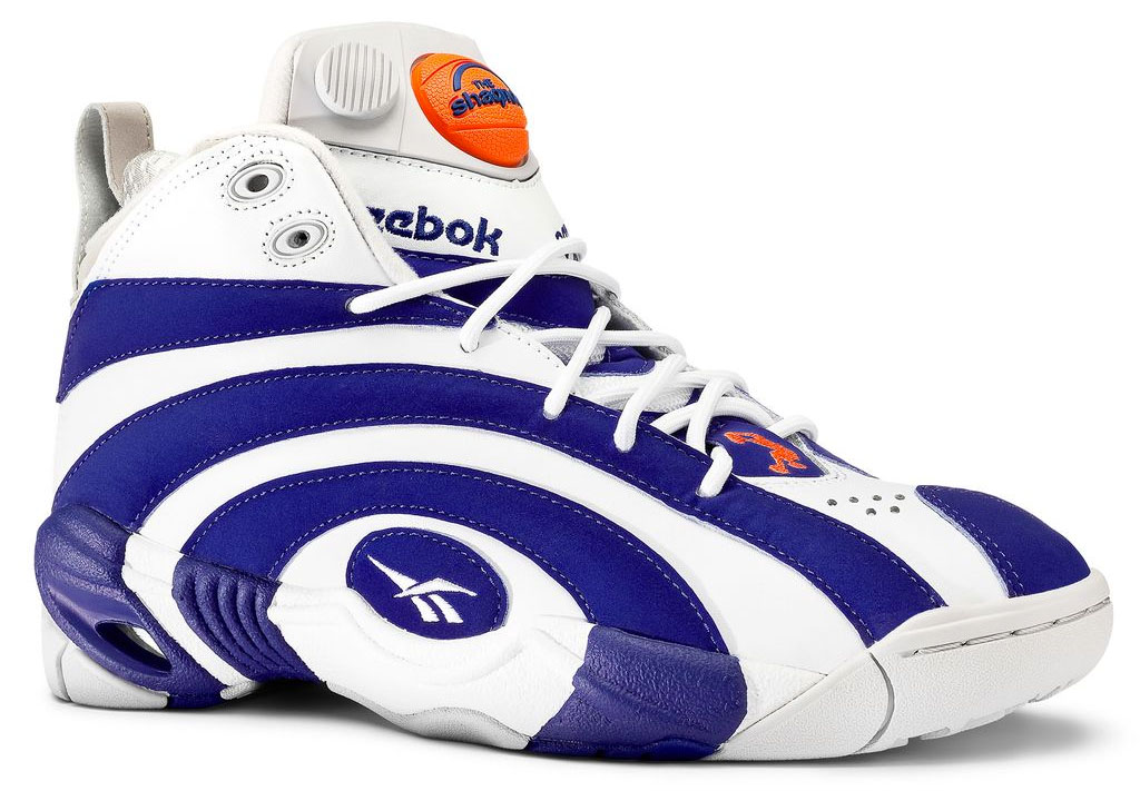 Blue And Orange Reebok Shoes