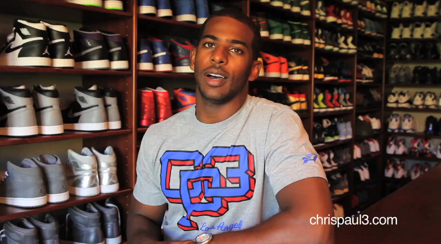 Chris Paul gives tour of his Jordan sneaker closet