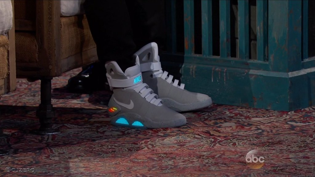 b70561532 Watch Michael J. Fox Auto-Lace His Nike Mags On Jimmy Kimmel