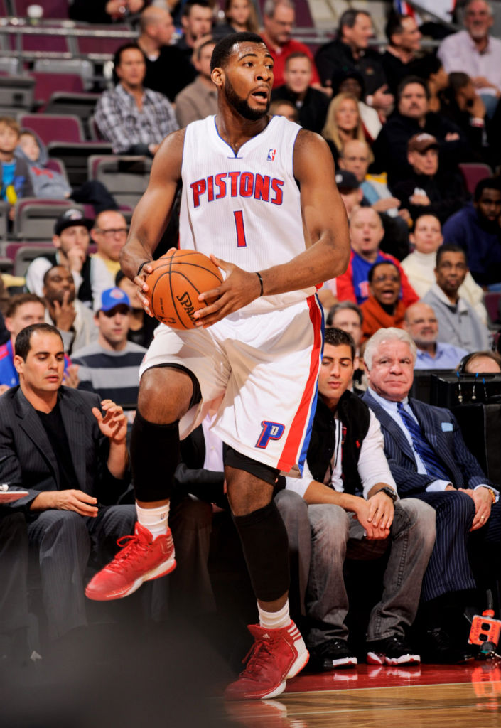 Andre Drummond wearing adidas adizero Crazy Light 2