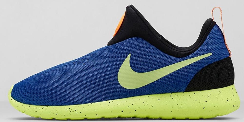 Nike Roshe Run Slip-On City Game Royal/Liquid Lime-Volt