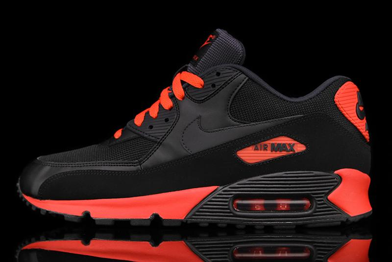 3fd92c1572b8 Check for the Air Max 90 Essential Black Anthracite-Sunburst at your  favorite Nike Sportswear retailer like Premier.