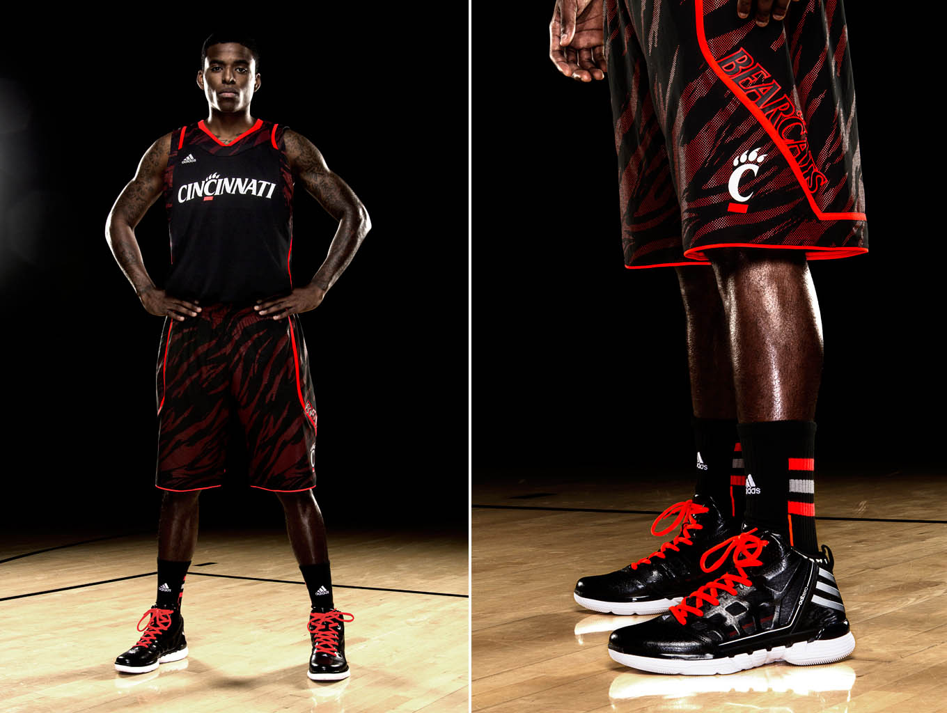 adidas adiZero Uniform and Shadow Cincinnati Bearcats Away