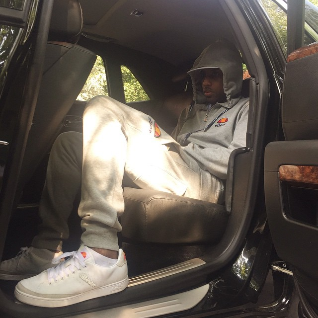 Fabolous wearing the Ellesse Allasio in White/Grey