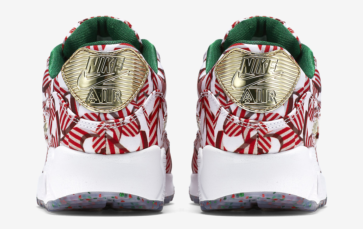 4715432a4e ... order nike wmns air max 90 christmas color white university red  metallic gold style 813150 101