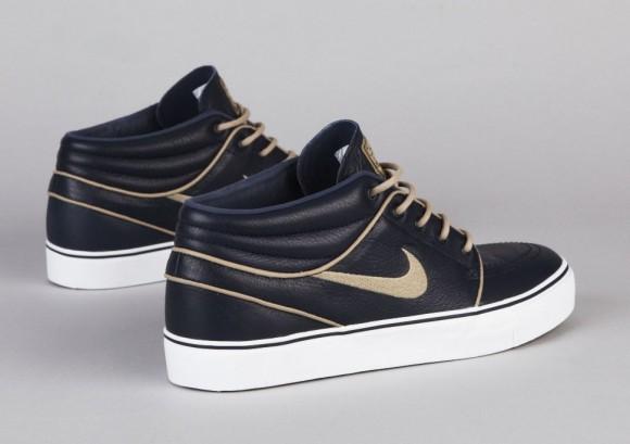 buy popular 9551b f0e10 Nike SB Stefan Janoski Mid Premium - Marine Khaki-Gum Light Brown
